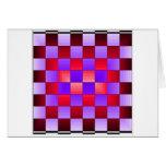 Colores del espectro del tablero de ajedrez X1 Cri Tarjeta