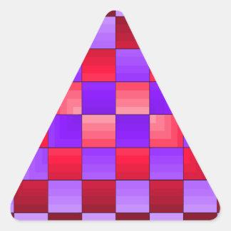 Colores del espectro del tablero de ajedrez X1 Pegatina Triangular