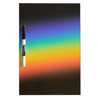 Colores del espectro pizarra blanca