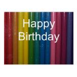 colores del feliz cumpleaños postal