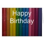 colores del feliz cumpleaños tarjetas