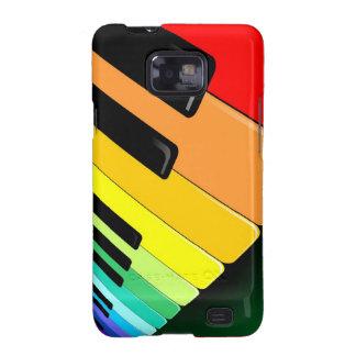 Colores del fiesta de la música del teclado galaxy s2 fundas