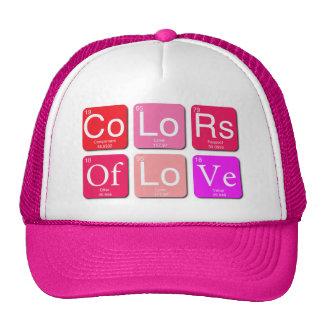 Colores del gorra del amor