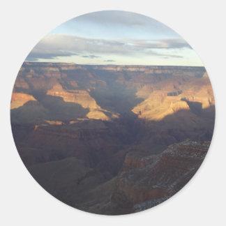 Colores del Gran Cañón Pegatina Redonda