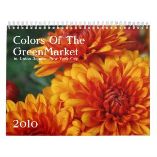 Colores del GreenMarket Calendarios De Pared