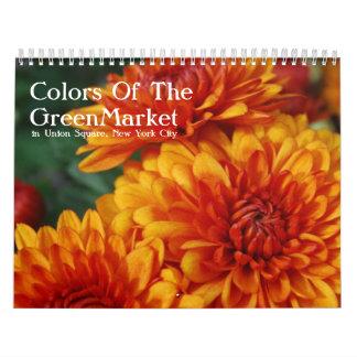 Colores del GreenMarket Calendario De Pared