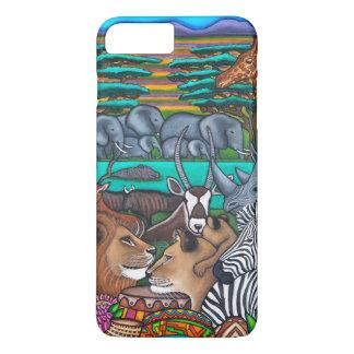 Colores del iPhone 7 de África+ Caso Funda iPhone 7 Plus