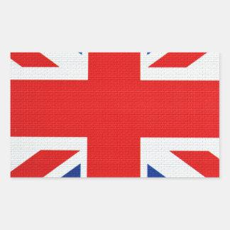 Colores del ladrillo de Inglaterra Rectangular Pegatina