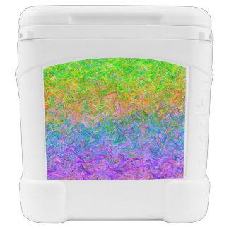 Colores del líquido del refrigerador del rodillo cofre nevera con ruedas