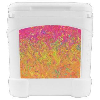 Colores del líquido del refrigerador del rodillo hielera con ruedas