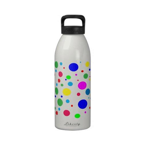 Colores del lunar botellas de agua reutilizables