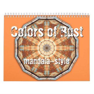 Colores del mandala-estilo del moho calendarios de pared