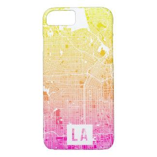 Colores del mapa de Los Ángeles Funda iPhone 7
