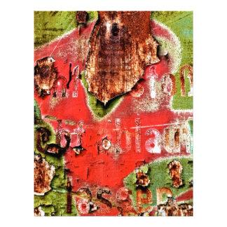 Colores del moho/del Rost-Arte Membrete Personalizado