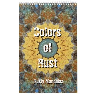 Colores del moho - mandalas oxidadas calendarios de pared