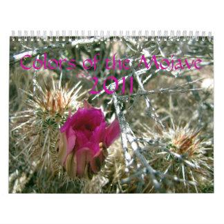 Colores del Mojave 2011 Calendario De Pared