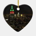Colores del navidad del Empire State Building en Ornamentos Para Reyes Magos