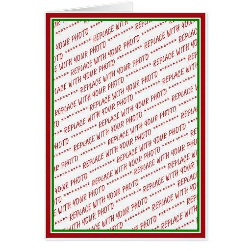(Colores del navidad) plantilla arreglada roja y v Tarjeta
