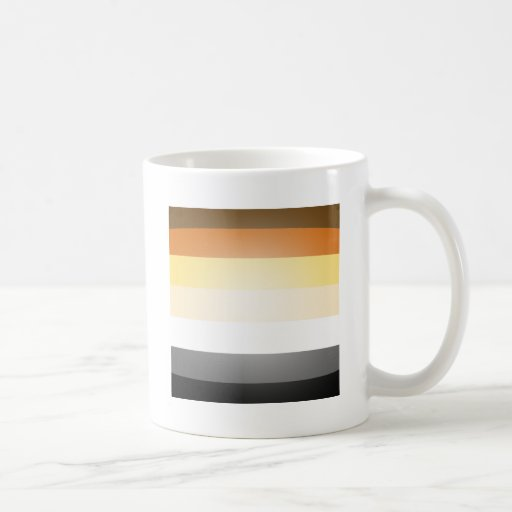COLORES del ORGULLO 3D del OSO Tazas De Café
