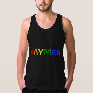 Colores del orgullo del arco iris de Gaymer Playera De Tirantes American Apparel De Jersey Fin