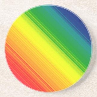 Colores del orgullo del arco iris, prácticos de co posavasos personalizados