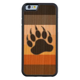 Colores del orgullo del oso de la pata de oso funda de iPhone 6 bumper cerezo