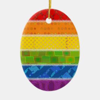 Colores del orgullo gay ornamente de reyes