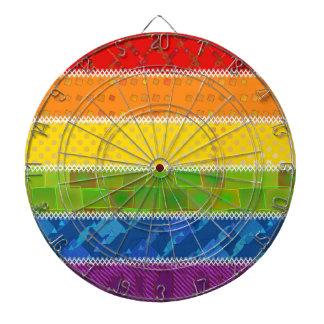 Colores del orgullo gay tablero dardos