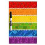 Colores del orgullo gay pizarra