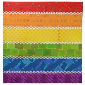 Colores del orgullo gay servilletas