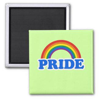 Colores del orgullo imán cuadrado