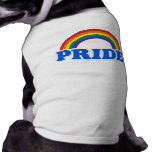 Colores del orgullo playera sin mangas para perro