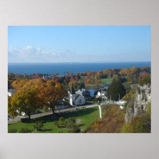 Colores del otoño de la isla de Mackinac Póster