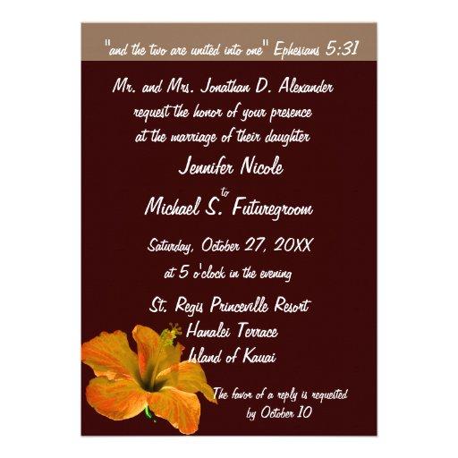 Colores del otoño del boda de la caída: Dos se con Invitaciones Personales