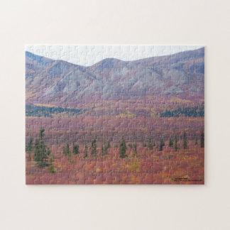 Colores del otoño en Denali, fotografía de Alaska Puzzles Con Fotos