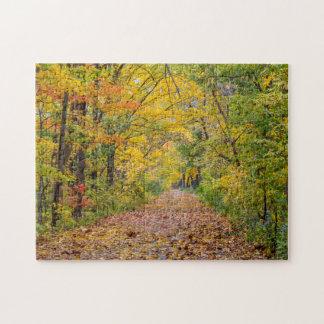Colores del otoño en el parque de estado de la
