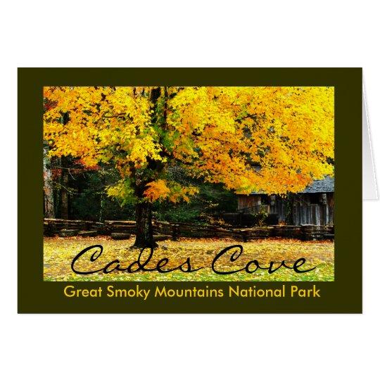 Colores del otoño en la ensenada de Cades del Tarjeta De Felicitación