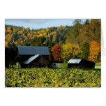 Colores del otoño en la granja tarjeton
