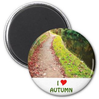 Colores del otoño imán redondo 5 cm