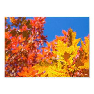 """Colores del otoño invitación 5"""" x 7"""""""