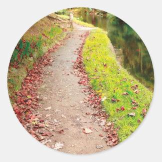 Colores del otoño pegatina redonda