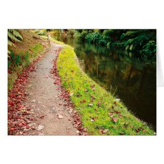 Colores del otoño tarjeta de felicitación