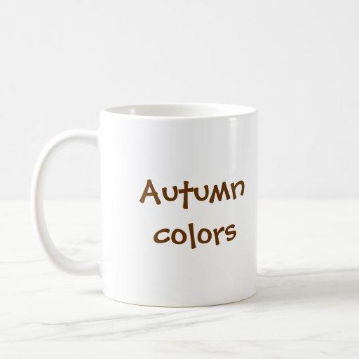 Colores del otoño tazas