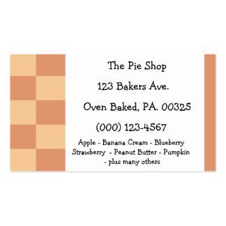 Colores del pastel de calabaza plantillas de tarjetas de visita