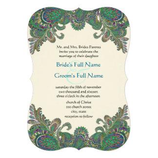Colores del pavo real de Paisley cortados con tint Anuncios Personalizados