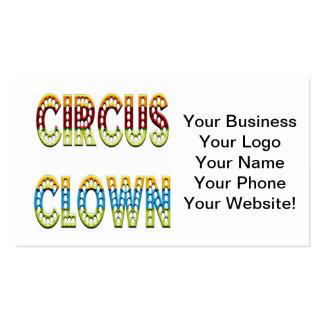 Colores del payaso de circo