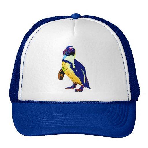 Colores del pingüino, antárticos, artísticos, amar gorras de camionero