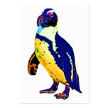 Colores del pingüino, antárticos, artísticos, amar tarjetas personales