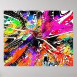 Colores del poster del arte de la pintada del extr