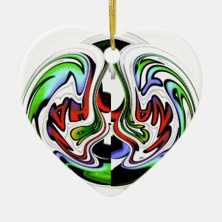 Colores del regalo del hakunamatata de adorno de cerámica en forma de corazón